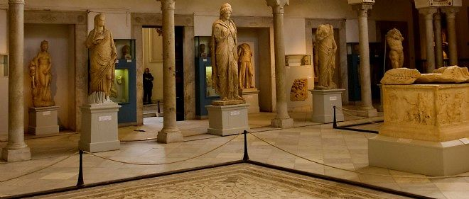 L'intérieur du musée du Bardo, en 2010.