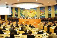 Metz dispose du seul hémicycle pouvant accueillir les 169 élus de la future région. ©Philippe Gisselbrecht / Andia.fr