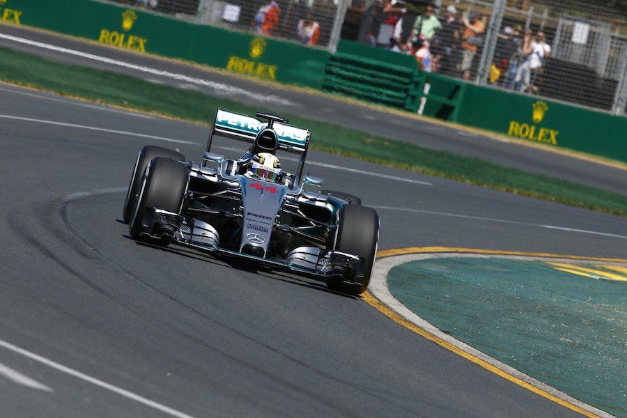 Lors du GP d'Australie. ©  Mercedes