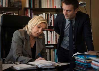 Marine Le Pen et Florian Philippot au siège du FN à Nanterre ©  Khanh pour Le Point