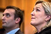 Florian Philippot et marine le Pen à un meeting en décembre 2014. ©Michael Bunel/NurPhoto/AFP