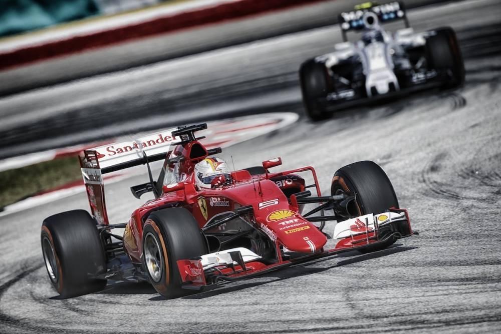 Vettel, lors de la course. ©  DR