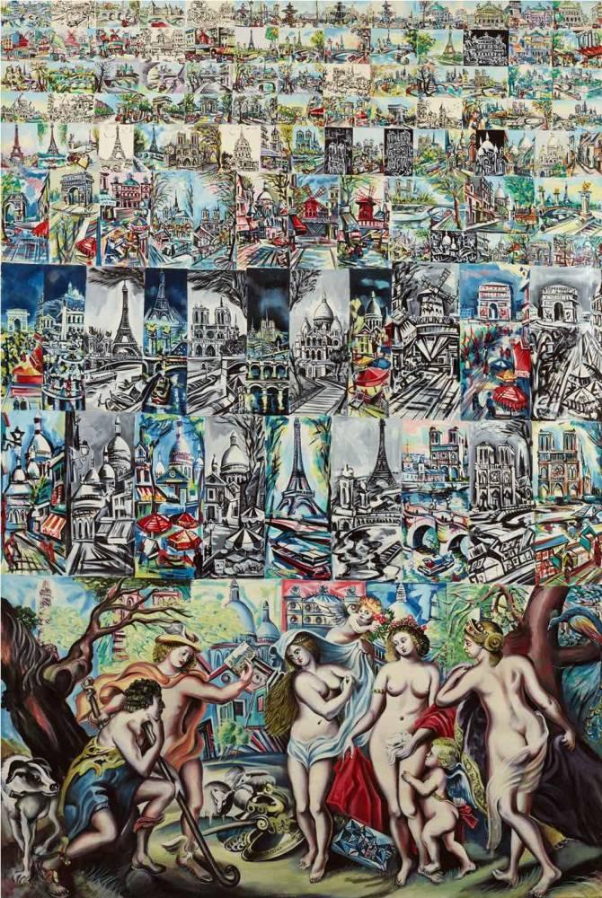 """Erro, """"Le jugement de Paris et l'école de Montmartre"""" (1966) ©  Cornette de Saint Cyr"""