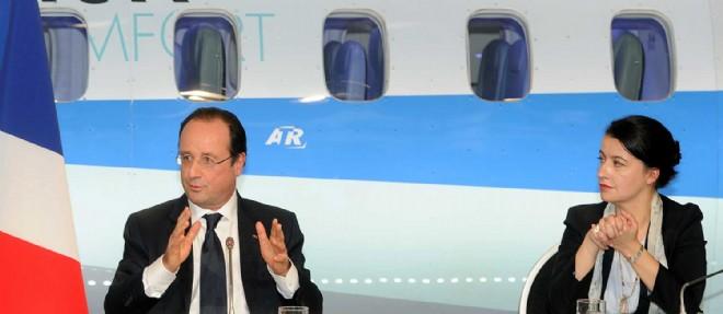 Cécile Duflot est rentrée de Tunis dimanche à bord de l'avion de François Hollande. ©ERIC CABANIS