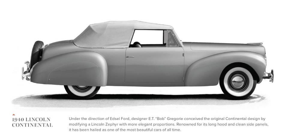Conçue pour être la voiture personnelle d'Edsel Ford, la première Lincoln Continental a marqué l'histoire automobile américaine. ©  LINCOLN