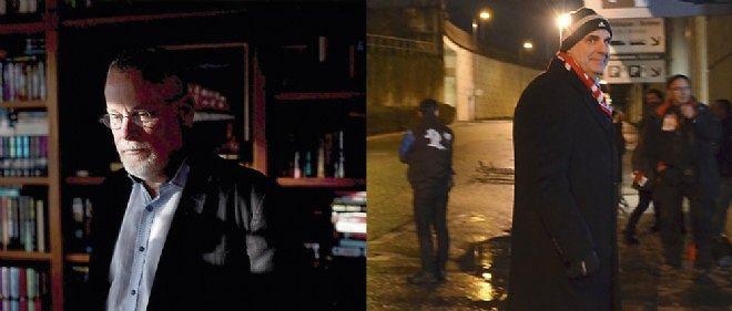 """À gauche, Harlan Coben sur le tournage d'""""Une chance de trop"""", à Saint-Denis. À droite, Michael Connelly."""