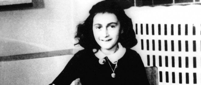 L'adolescente juive Anne Frank sur une photo non datee.