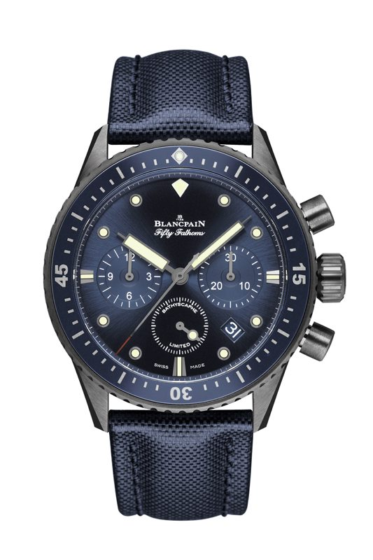 Bathyscaphe Chronographe Flyback Fifty Fathoms 5200-0240-52A