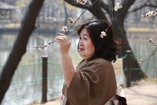 Yasue Tomita pose, le 17 mars 2015 à Tsurugashima dans la prefecture de Saitama, avant de faire ses débuts d'actrice pornographique © TORU YAMANAKA AFP