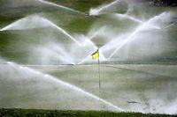 En Californie, les golfs trop gourmands en eau seront mis à l'amende, mais pas les agriculteurs... ©Justin Sullivan/Getty Images/AFP
