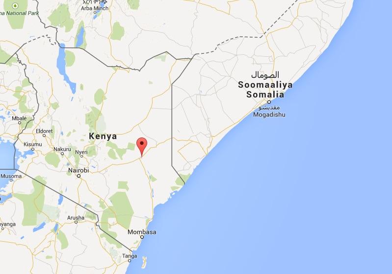 Garissa, à l'est du Kenya ©  Google Maps