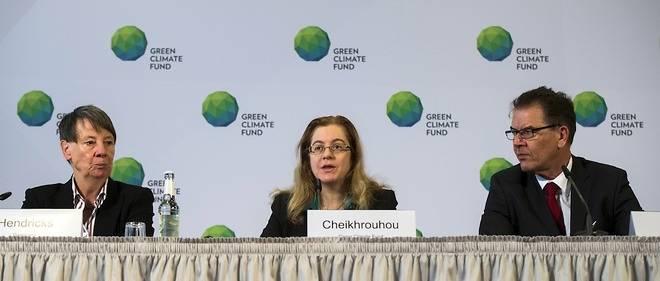 Hela Cheikhrouhou, directrice du Fonds vert pour le climat, lors d'une conférence en novembre 2014.