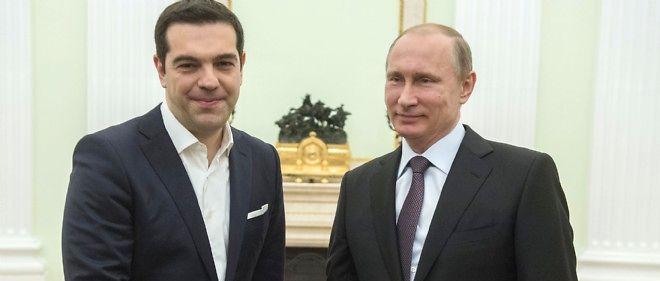 Le Premier ministre grec Alexis Tsipras et le président russe Vladimir Poutine le 8 avril 2015.