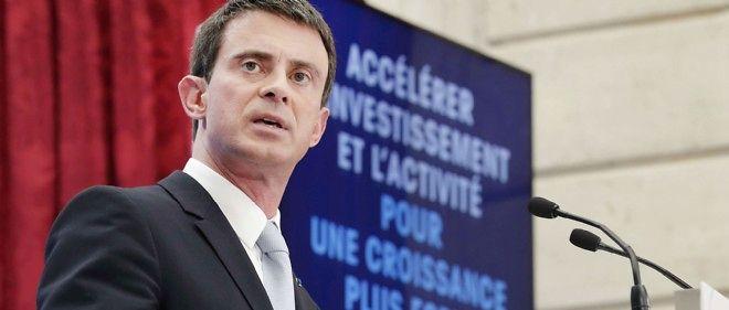 Manuel Valls a annoncé plusieurs mesures le 8 avril pour soutenir l'investissement et l'emploi.