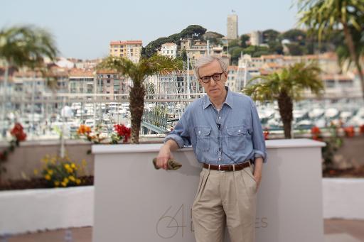 """Woody Allen, un candidat plus que sûr pour le sélection de Cannes 2015, avec son dernier film """"Irrational Man"""" © Valery Hache AFP/Archives"""