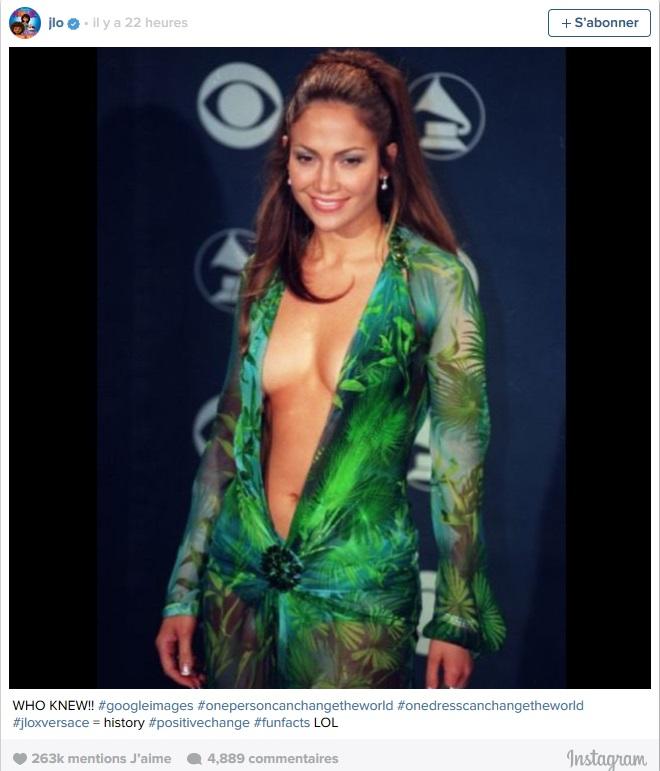 Jennifer Lopez se félicite d'être à l'origine de Google Images ©  Capture d'écran Instagram