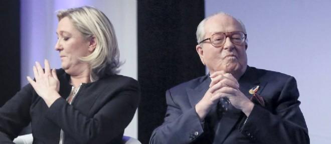 Marine Le Pen et son père Jean-Marie. ©Vincent Isore