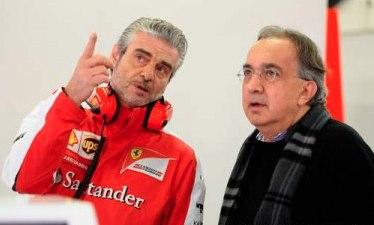 Sergio Marchionne et Maurizio Arrivabene ©  DR