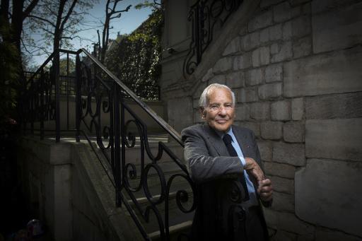 Jean d'Ormesson à Paris le 9 avril 2015 © Martin Bureau AFP/Archives