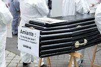 Manifestation de victimes de l'amiante en novembre 2013. ©Michel Stoupak/Citizenside/AFP
