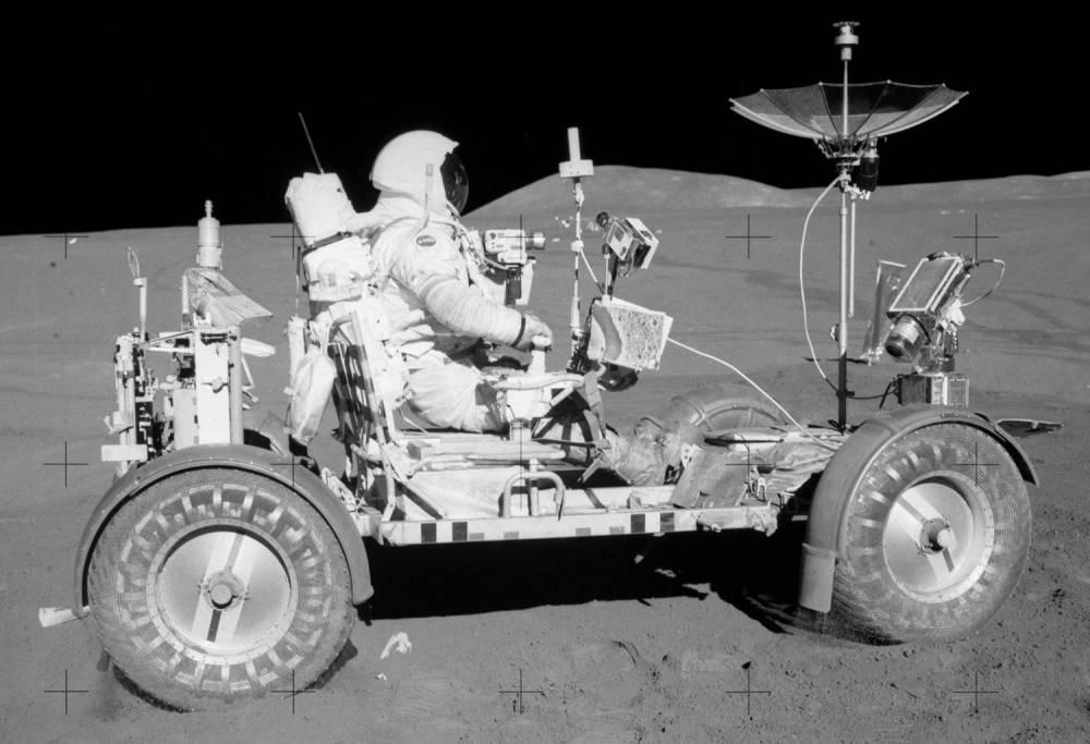 Le MRV peut être vu comme un lointain héritier du véhicule lunaire des missions Apollo. ©  DR