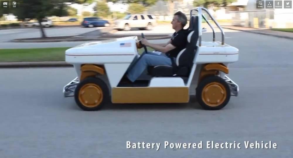 De la taille d'une voiturette de golf, le MRV peut effectuer des manoeuvres inaccessibles à une voiture classique. ©  NASA