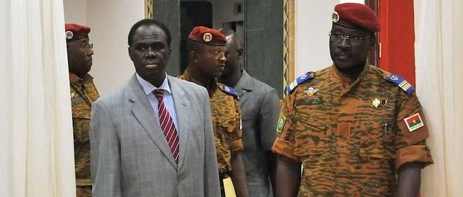 Le président Kafando et son Premier ministre, le lieutenant-colonel Zida.
