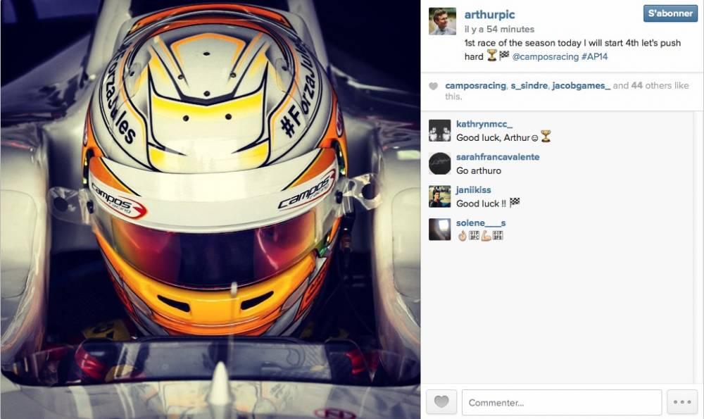 La joie d'Arthur Pic sur le réeaux social Instagram. ©  DR