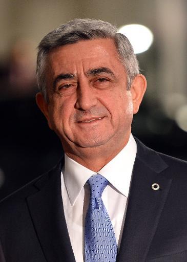 Le président arménien Serge Sarkissian à Vilnius le 28 novembre 2013 © Janek Skarzynski AFP/Archives