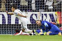 Javier Hernandez a marqué l'unique but du quart de finale entre le Real et l'Atlético. ©Gérard JULIEN