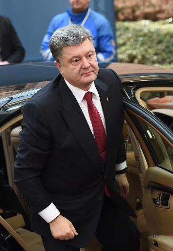 Le président ukrainien Petro Porochenko à Bruxelles le 12 février 2015 © EMMANUEL DUNAND AFP/Archives