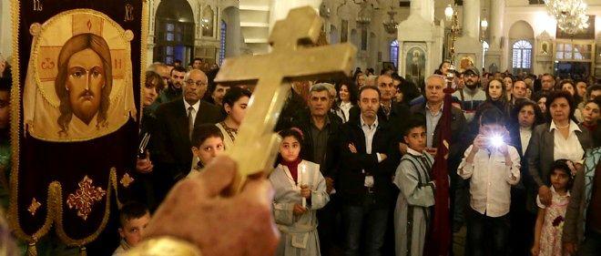 Messe à Damas, le 10 avril.
