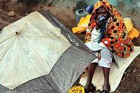 Dans les faubourg de Nairobi, le bidonville de Korogocho. ©Fabrice Pedrono/AFP