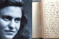 Marie-José Chombart de Lawe au début des années 40, lorsqu'elle s'engage dans un réseau organisé par sa famille. À g. : Les notes prises quelques mois après son retour de Ravensbrück, où elle consigne ce que'elle a vécu.