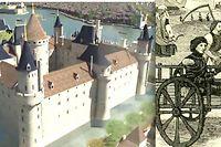 Le Louvre en 1202 et le comte de Flandre enchaîné.
