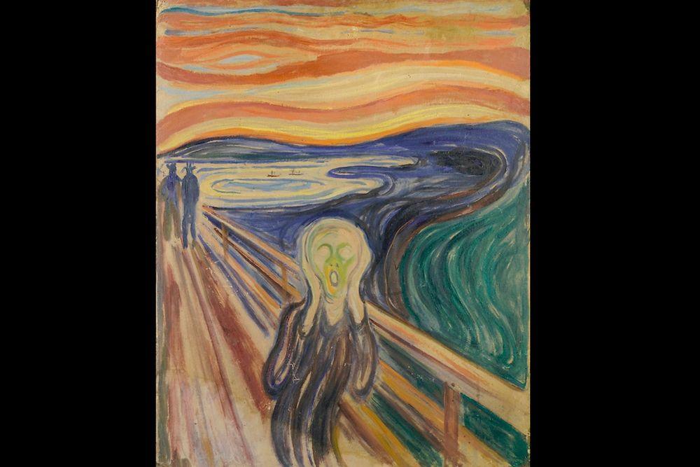 """""""Le Cri"""" (1893 ? 1910 ?) d'Edvard Munch"""