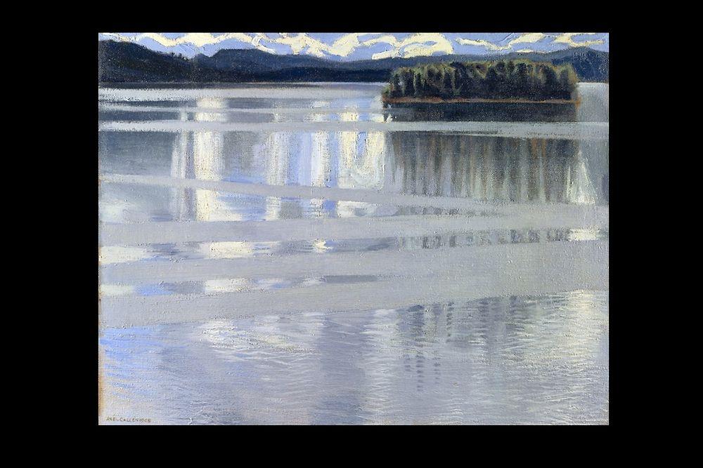 """Le lac Keitele"" (1865-1931) de Gallen-Kallela Akseli"