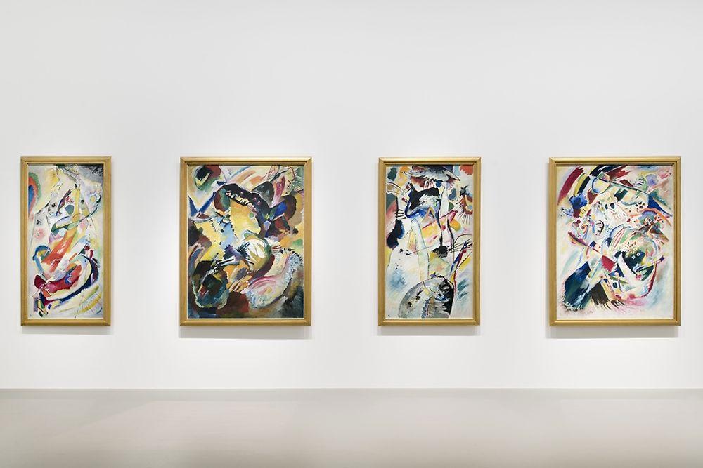 Vue intérieure de l'expo - Oeuvres de Kandinsky