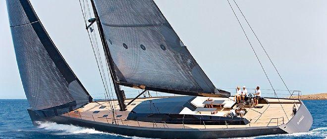 Le CNB 100 Chrisco, un sloop de 33 mètres, fleuron de la marque Bénéteau. Vendu plus de 10 millions d'euros.