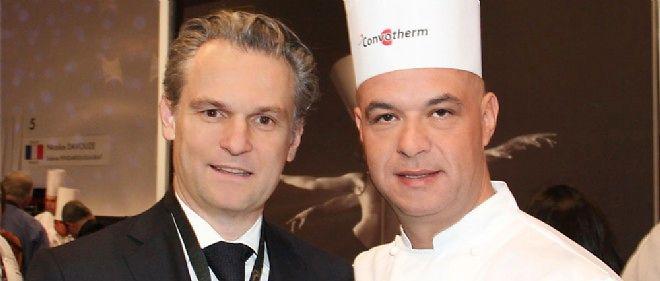 Paul-Maurice Morel et Jérôme Bocuse au Bocuse d'or 2015.