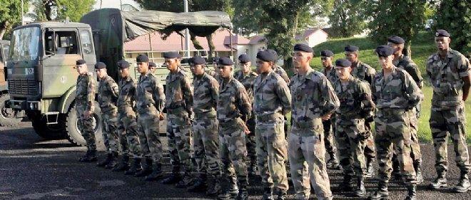 Bataillons du RSMA (régiment du service militaire adapté) de Fort-de-France, en 2010.
