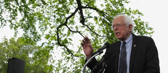 Bernie Sanders, sénateur du Vermont, est candidat à la présidentielle de 2016. ©Alex Wong/Getty Images/AFP