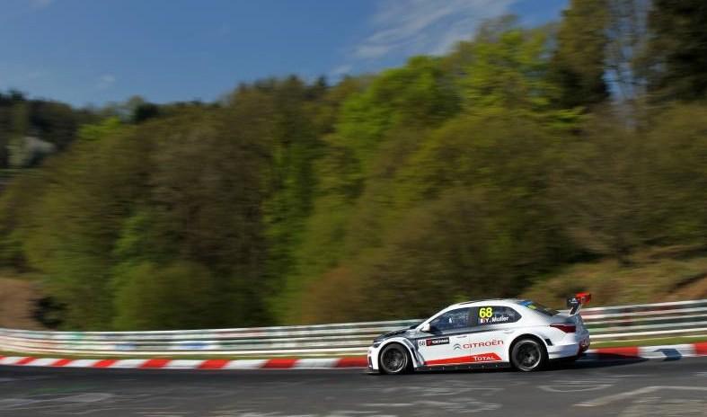 Yvan Muller au Nürburgring, mardi dernier. ©  Citroen Racing