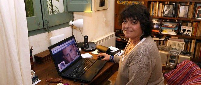 Giovanna Valls dans son appartement de Barcelone, en avril 2014.