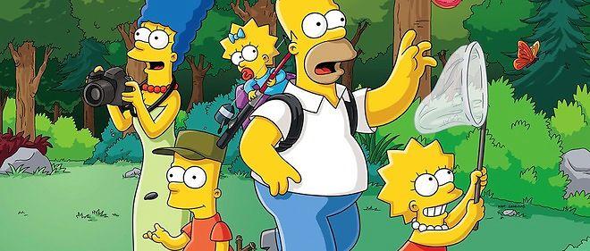 Marge, Bart, Maggie, Homer et Lisa, la famille Simpson au complet.