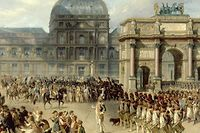 Arc de triomphe du Carrousel, par Hippolyte Bellangé, en 1810.