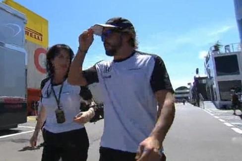 Fernando Alonso, après son abandon. ©  DR