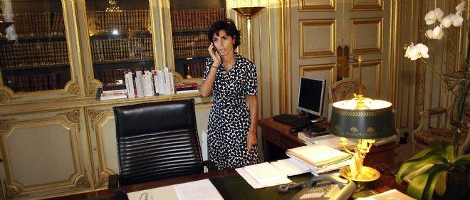 Rachida Dati dans son bureau au ministère de la Justice, en 2007.