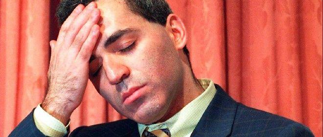Le 11 mai 1997, Gary Kasparov après sa défaite contre Deep Blue. L'ordinateur, lui, ne s'est pas même réjoui.