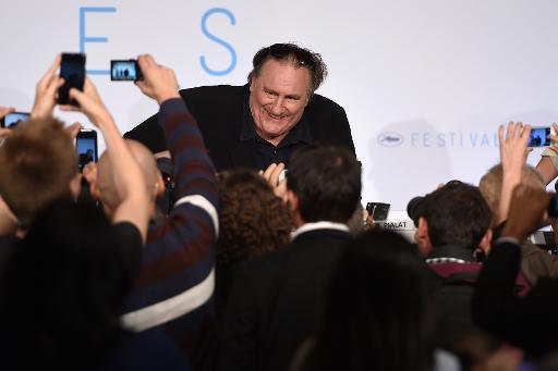 """Gérard Depardieu lors de la conférence de presse du film """"Valley of Love"""" au Festival de Cannes, le 22 mai 2015 © ANNE-CHRISTINE POUJOULAT AFP"""